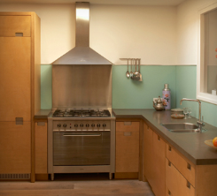 Houten keukenkastjes